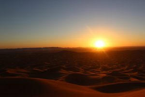sonnenuntergang Sahara